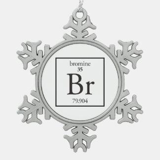 Bromine Pewter Snowflake Ornament