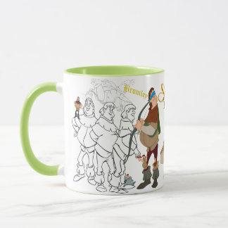 Bromley Sketch Mug with Colored Rim&Handle