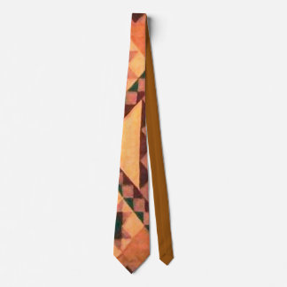 Bronc Rider Geometric Abstract Tie