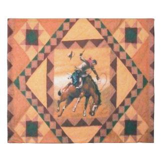 Bronc Rider Western Cowboy King Duvet Cover