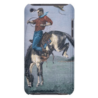 Bronco-Buster (coloured engraving) iPod Touch Cover