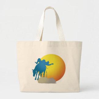 BroncoSilhouette Large Tote Bag
