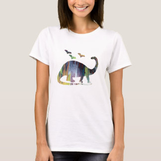 Brontosaurus and bats T-Shirt