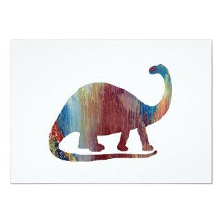 Brontosaurus Art Card