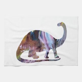 Brontosaurus Art Kitchen Towel