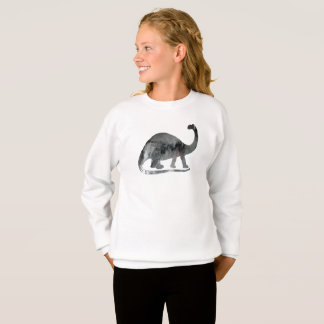Brontosaurus Art Sweatshirt