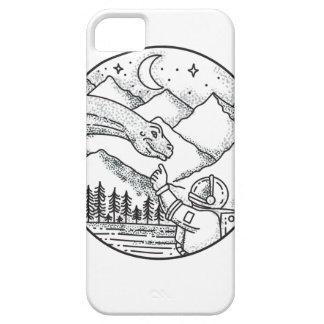 Brontosaurus Astronaut Mountain Circle Tattoo Case For The iPhone 5