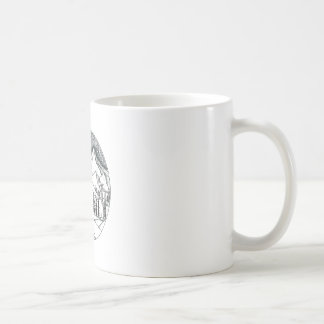 Brontosaurus Astronaut Mountains Tattoo Coffee Mug