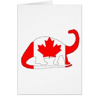 Brontosaurus Canada Card