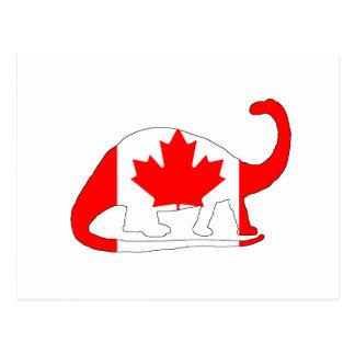 Brontosaurus Canada Postcard