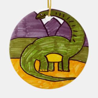 Brontosaurus Ceramic Ornament
