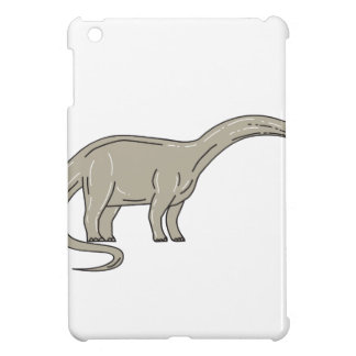 Brontosaurus Dinosaur Looking Down Mono Line iPad Mini Cases