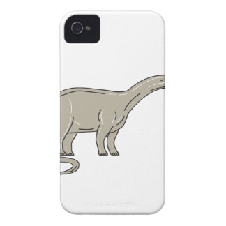 Brontosaurus Dinosaur Looking Down Mono Line iPhone 4 Case-Mate Cases
