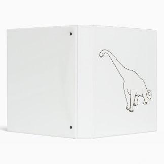 Brontosaurus Dinosaur School Binders