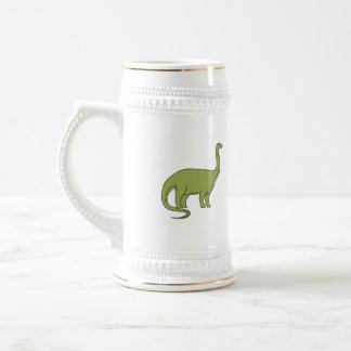 Brontosaurus Mono Line Beer Stein