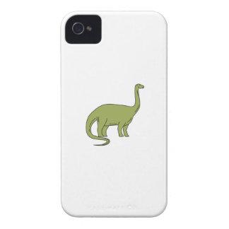 Brontosaurus Mono Line Case-Mate iPhone 4 Cases