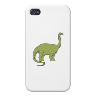 Brontosaurus Mono Line Covers For iPhone 4