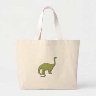 Brontosaurus Mono Line Large Tote Bag