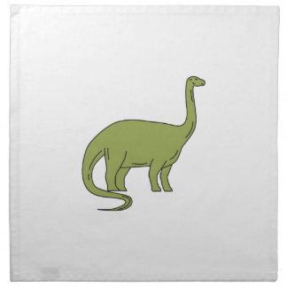 Brontosaurus Mono Line Napkin