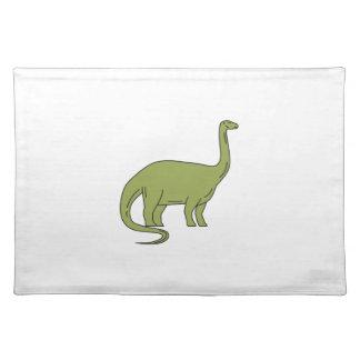 Brontosaurus Mono Line Placemat