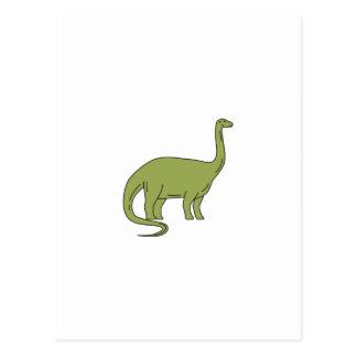 Brontosaurus Mono Line Postcard