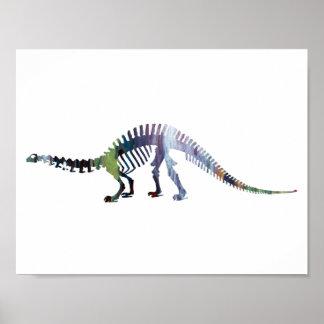 brontosaurus skeleton poster