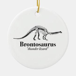 Brontosaurus Thunder Lizard Dinosaur Skeleton Cool Ceramic Ornament
