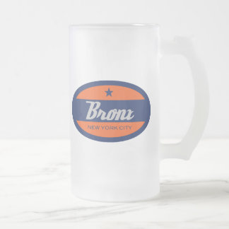 *Bronx Frosted Glass Beer Mug