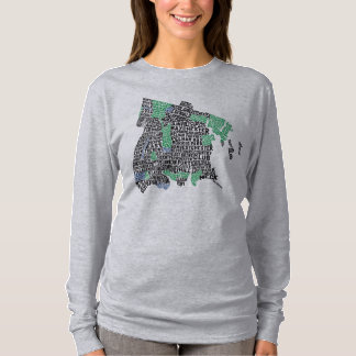 Bronx New York City Typography Map T-Shirt