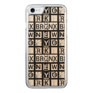 Bronx New York | Grunge Typography Carved iPhone 8/7 Case