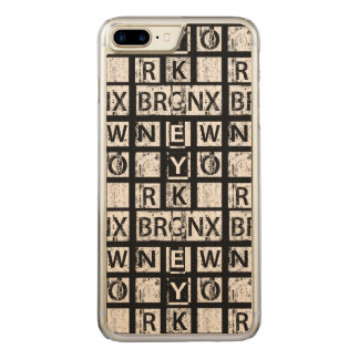 Bronx New York | Grunge Typography Carved iPhone 8 Plus/7 Plus Case