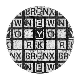 Bronx New York   Grunge Typography Cutting Board