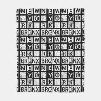 Bronx New York | Grunge Typography Fleece Blanket