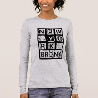 Bronx New York | Grunge Typography Long Sleeve T-Shirt