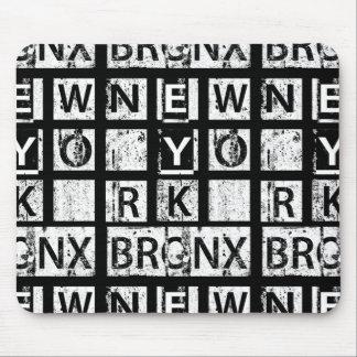 Bronx New York | Grunge Typography Mouse Pad
