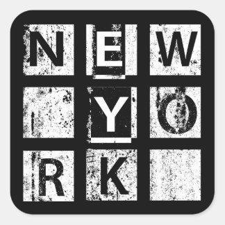 Bronx New York | Grunge Typography Square Sticker
