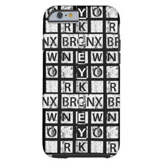 Bronx New York   Grunge Typography Tough iPhone 6 Case