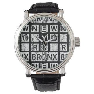 Bronx New York   Grunge Typography Watch