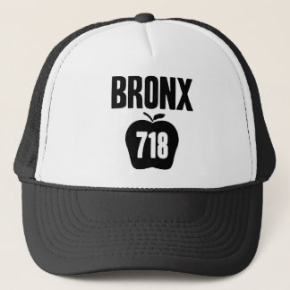 Bronx With Big Apple & 718 Area Code Cutout Trucker Hat