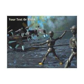 Bronze Age Robots Canvas Print