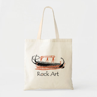 Bronze Age rock art ships with wariors Tote Bag