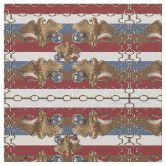 Bronze American Eagles Fabric