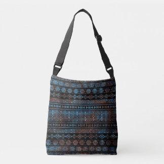 Bronze and Rust Vintage  Aztec Peruvian Tribal Pat Crossbody Bag