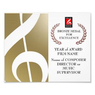 Bronze Award Certificate Photograph