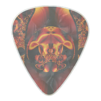 Bronze Beauty Pearl Celluloid Guitar Pick