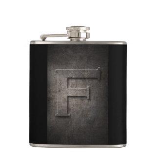 Bronze Black Metal F Monogram Flask