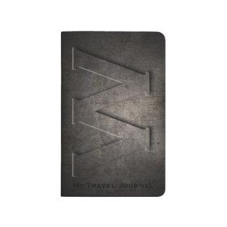 Bronze Black Metal W Monogram Pocket Journal