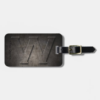 Bronze Black Metal W Monogram Travel Luggage Tag