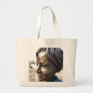 Bronze Boy Large Tote Bag