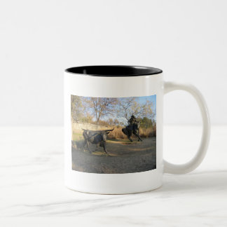 Bronze Cattle Trail Two-Tone Coffee Mug